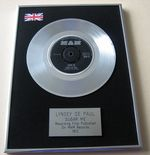 LYNSEY DE PAUL - SUGAR ME PLATINUM Single Presentation Disc